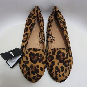 RUBI | Flat Shoes | Leopard Micro | Sophia Slipper | AU 10 | EUR 41 | NWT